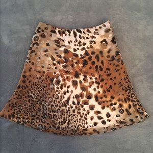 Cache cheetah print skirt